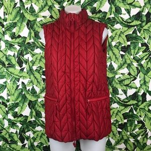 5 for $25 Cold Water Creek Red Quilted Vest